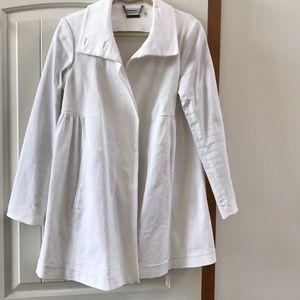 DKNYC White Denim Coat